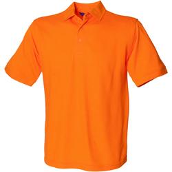 textil Herr Kortärmade pikétröjor Henbury HB400 Orange