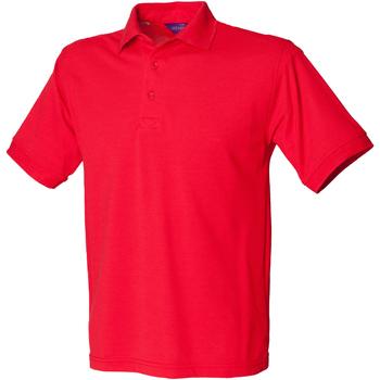 textil Herr Kortärmade pikétröjor Henbury HB400 Röd