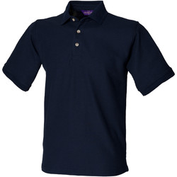 textil Herr Kortärmade pikétröjor Henbury HB410 Marinblått