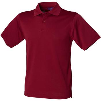 textil Herr Kortärmade pikétröjor Henbury HB475 Bourgogne