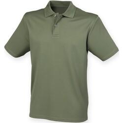 textil Herr Kortärmade pikétröjor Henbury HB475 Olive
