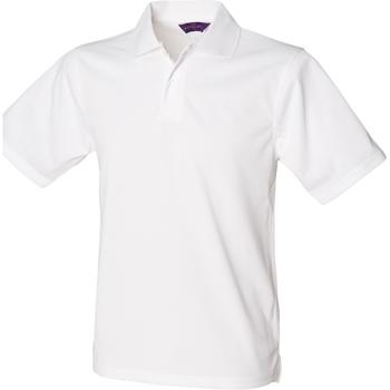 textil Herr Kortärmade pikétröjor Henbury HB475 Vit