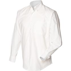 textil Herr Långärmade skjortor Henbury HB510 Vit