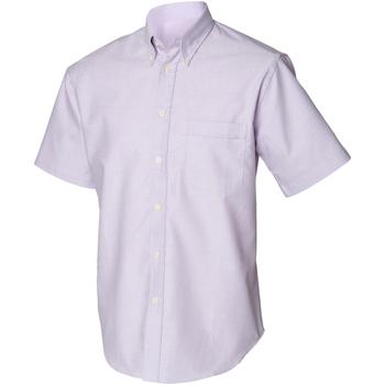 textil Herr Kortärmade skjortor Henbury HB515 Syren