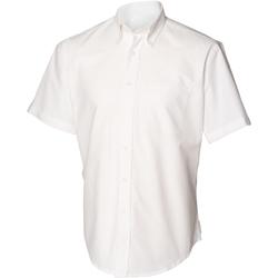 textil Herr Kortärmade skjortor Henbury HB515 Vit