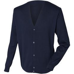 textil Herr Koftor / Cardigans / Västar Henbury HB722 Marinblått