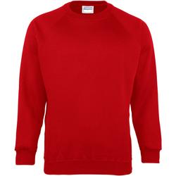 textil Herr Sweatshirts Maddins MD01M Röd