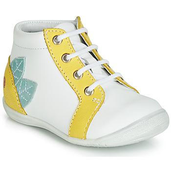 Skor Flickor Höga sneakers GBB FRANCKIE Vit / Gul