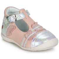 Skor Flickor Ballerinor GBB MERTONE Rosa / Silver