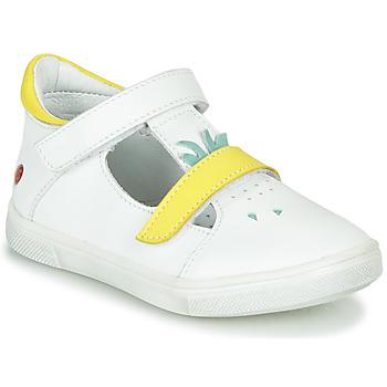 Skor Flickor Höga sneakers GBB ARAMA Vit-gul