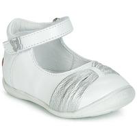 Skor Flickor Ballerinor GBB MALLA Vit / Silver