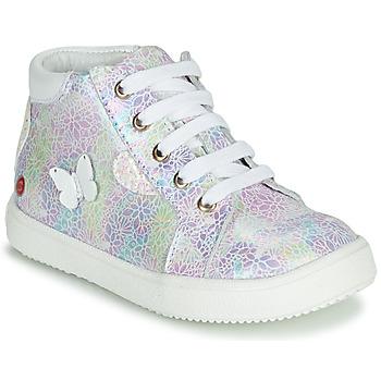 Skor Flickor Höga sneakers GBB MEFITA Silver / Rosa