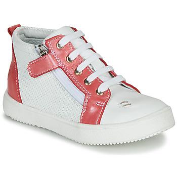 Skor Flickor Höga sneakers GBB MIMOSA Vit-korall