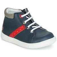 Skor Pojkar Höga sneakers GBB FOLLIO Marin / Röd