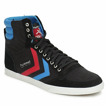 Skor Herr Höga sneakers Hummel TEN STAR HIGH CANVAS Svart / Blå / Röd