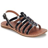 Skor Flick Sandaler Kickers DIXMILLION Svart / Lack