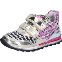 Skor Flickor Sneakers Enrico Coveri sneakers oro tessuto vernice BX821 Oro