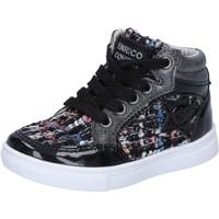 Skor Flickor Höga sneakers Enrico Coveri sneakers nero tessuto vernice BX822 Nero