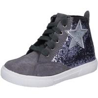 Skor Flickor Höga sneakers Enrico Coveri sneakers grigio glitter camoscio BX839 Grigio