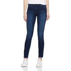 textil Dam Skinny Jeans Wrangler High Rise Skinny Subtle Blue W27HX786N navy