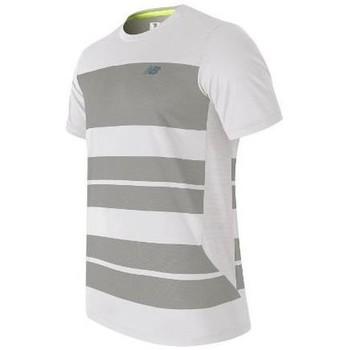 textil Herr T-shirts New Balance MT53406WSV white