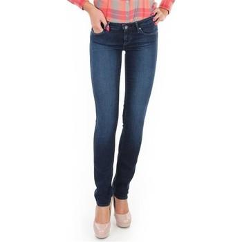 textil Dam Skinny Jeans Wrangler Jeansy  Skyline W26FX754R blue