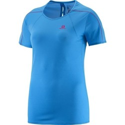 textil Dam T-shirts Salomon Minim Evac Tee W 371146 blue