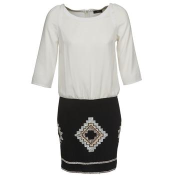 textil Dam Korta klänningar One Step RAMBOUTAN Vit / Svart