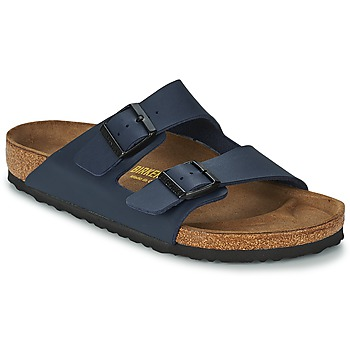 Skor Herr Tofflor Birkenstock ARIZONA LARGE FIT Blå