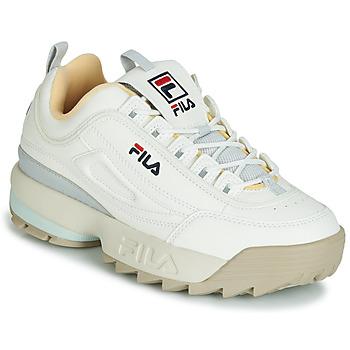 Skor Dam Sneakers Fila DISRUPTOR CB LOW WMN Vit / Grå