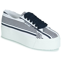 Skor Dam Sneakers Superga 2790 COT MULTI STRIPE W Vit