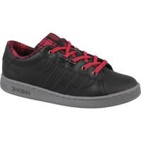 Skor Dam Sneakers K-Swiss Kswiss Hoke Plaid Svarta