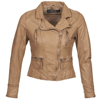 textil Dam Skinnjackor & Jackor i fuskläder Oakwood 60862 COGNAC
