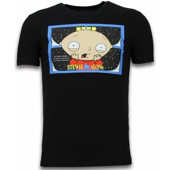 textil Herr T-shirts Local Fanatic Stewie Home Alone Svart