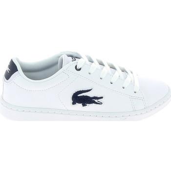 Skor Barn Sneakers Lacoste Carnaby Evo C Blanc Bleu Vit