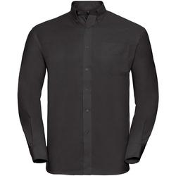 textil Herr Långärmade skjortor Russell 932M Svart