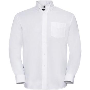 textil Herr Långärmade skjortor Russell 932M Vit