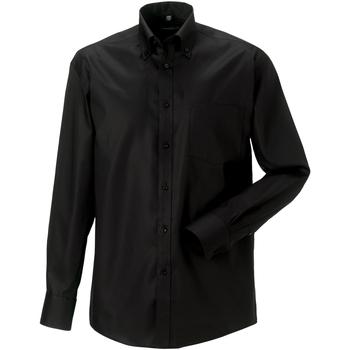 textil Herr Långärmade skjortor Russell 956M Svart