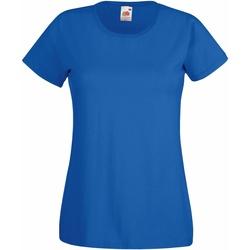 textil Dam T-shirts Fruit Of The Loom 61372 Kungliga