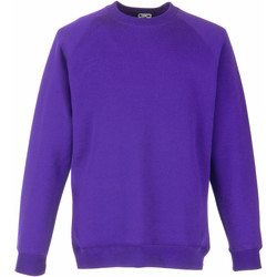 textil Barn Sweatshirts Fruit Of The Loom 62039 Lila