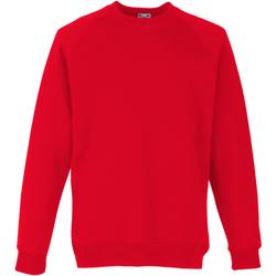 textil Barn Sweatshirts Fruit Of The Loom 62039 Röd