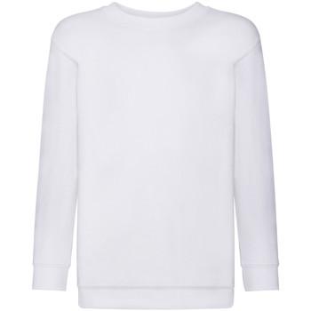 textil Barn Sweatshirts Fruit Of The Loom 62041 Vit