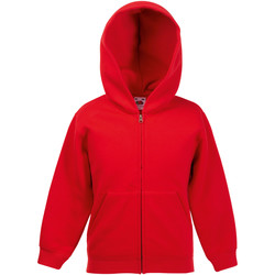 textil Barn Sweatshirts Fruit Of The Loom 62045 Röd