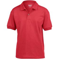 textil Barn Kortärmade pikétröjor Gildan 8800B Röd