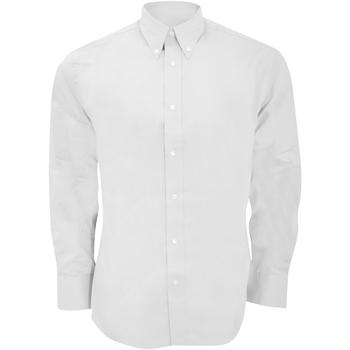 textil Herr Långärmade skjortor Kustom Kit KK188 Vit