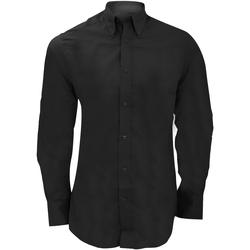 textil Herr Långärmade skjortor Kustom Kit KK386 Svart