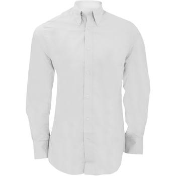 textil Herr Långärmade skjortor Kustom Kit KK386 Vit