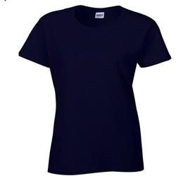 textil Dam T-shirts Gildan Missy Fit Marinblått