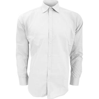 textil Herr Långärmade skjortor Kustom Kit KK192 Vit