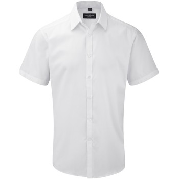 textil Herr Kortärmade skjortor Russell 963M Vit